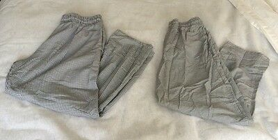 Unisex Uncommon Threads Black/white Checked Chef Pants Size XL (2) beb