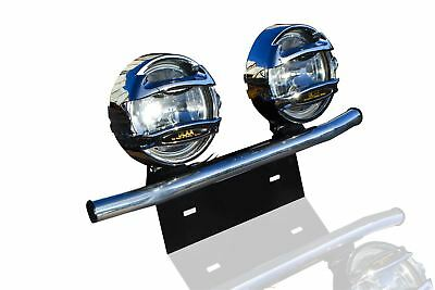 To Fit Mitsubishi ASX SUV Aluminium Number Plate Front Light Bar + Spots