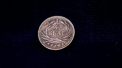 1898 1/4 Real Silver Mini-Coin **GREAT CONDITION**