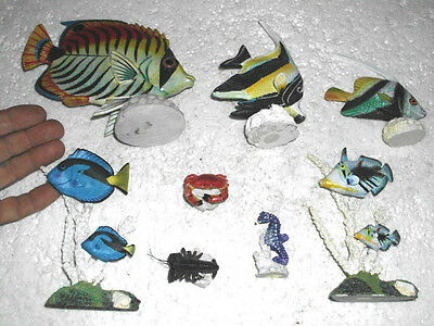 Lot Of 8 Saltwater Fish Decorations