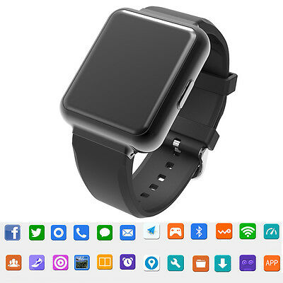 Black Q1 Android 5.1 WiFi GPS 3G Smart Watch Bluetooth Digital Smartwatch SIM