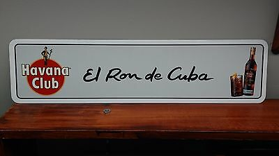 "Havana Club Cuban Ron metal sign  6"" x 24"""