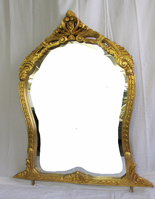 French Style Hand Carved Solid Wood Gilded Buffet Mirror