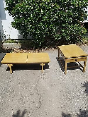 Vintage Mid-Century Modern -  Coffee Table & End table - Blonde