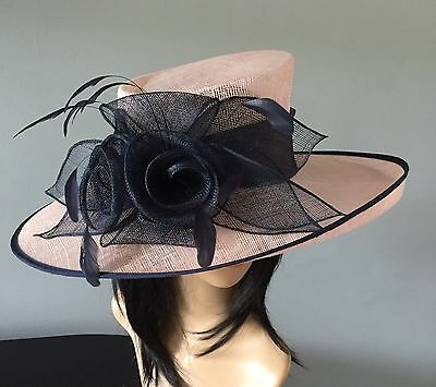 Nigel Rayment Pink And Navy Wedding Occasion Hat  Mother Of The Bride