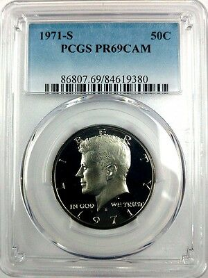 1971-S 50C CA (Proof) Kennedy Half Dollar PCGS PR69CAM - KEY DATE LOW POP