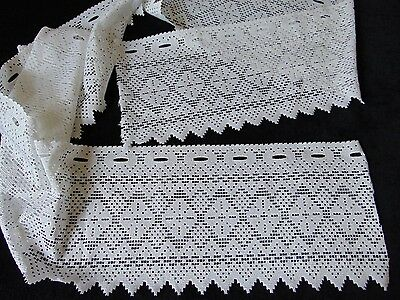 Vintage French Cafe Net Curtain Pelmet, Jacquard Polyester, 295 X 28 Cm - New