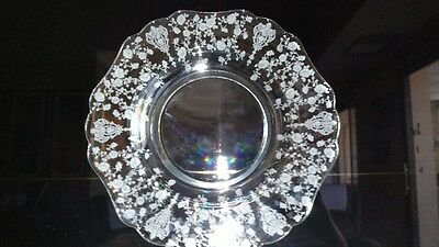 """Cambridge Eight (8) Rosepoint 3400 9 1/2"""" Dinner Or Luncheon Plates"""