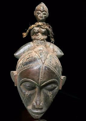 Outstanding  Tribal Baule 2 Face  Mask    --- Coted'Ivoire
