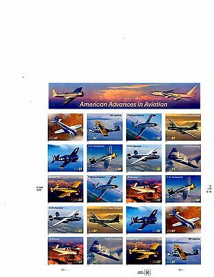 US Stamps Scott #3916-25 American Advances in Aviation 37c Full Sheet MNH