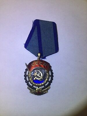 Soviet Russian Order of the Red Banner of Labor #319136 medal badge
