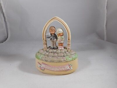 Enesco Memories of Yesterday Figurine Here Comes the Bride MUSICAL CAKE TOPPER
