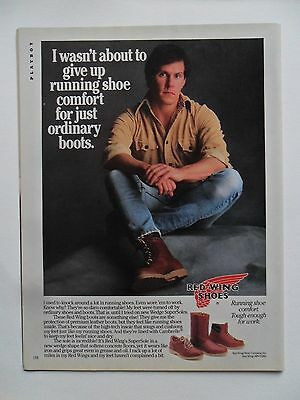 1985 Print Ad Red Wing Shoes Leather Boots ~ Running Shoe Comfort