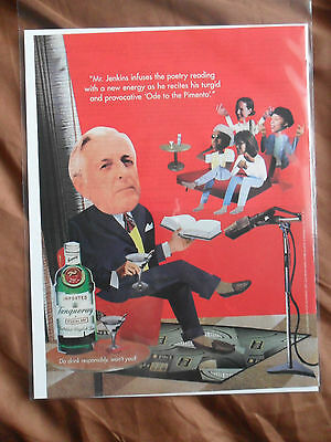 1996 Print Ad Tanqueray Gin ~ Mr. Jenkins at the Poetry Reading