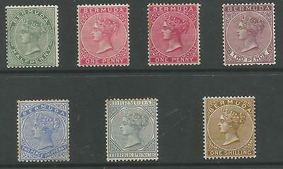 BERMUDA SG21a,22,24,26,27,28&29b QV 1888-1904 MINT THE 2.5d IS UNUSED CAT £267