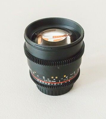 Rokinon Canon EF 85mm t/1.5 MC Lens For Canon