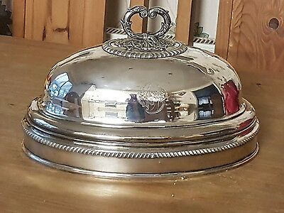 Antique Georgian Silverplate Meat/Food cover. 19th century Stately Home