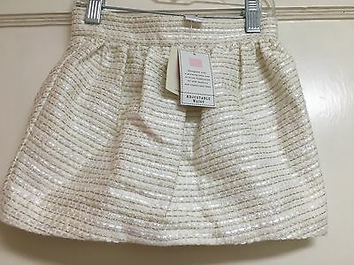 Girls Janie And Jack Gold Thread Skirt Size 3 Nwt