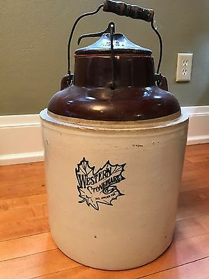 Antique 4 gallon Western Stoneware Co. Canning Jar Crock - LOCAL PICK UP ONLY