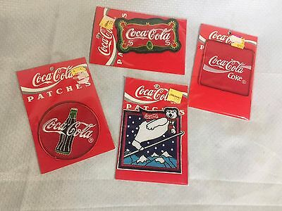 Coca-Cola Iron On Patch Lot Of 4 NEW