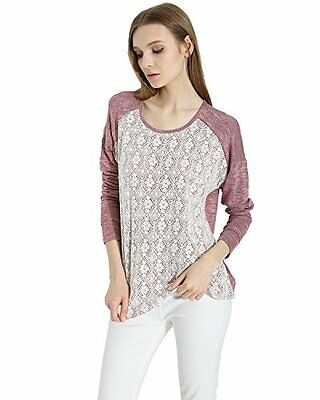 Game Of Love Women's Lace long Sleeve Casual Pullover Knit Sweater, New
