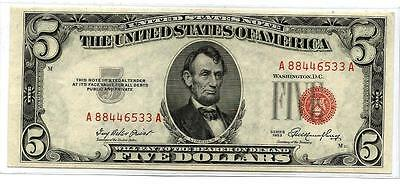 ***HARD TO FIND & RARE ERROR*** Third Overprint Shift on an UNC 1953 $5 US Note!