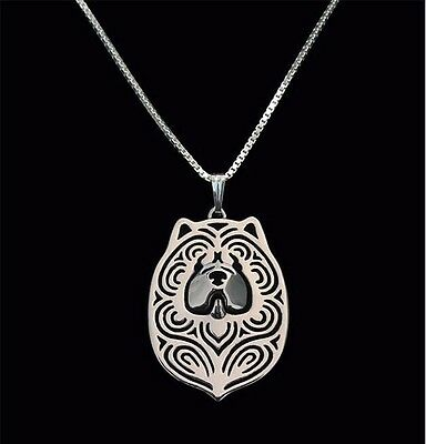 Chow Chow Pendant Necklace Silver Tone ANIMAL RESCUE DONATION