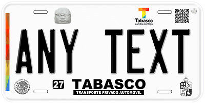 Tabasco Mexico Any Text Personalized Novelty Auto Car License Plate C03