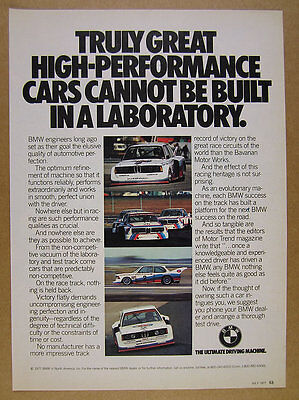 1977 BMW 320i Turbo Group 5 Race Cars color photos vintage print Ad