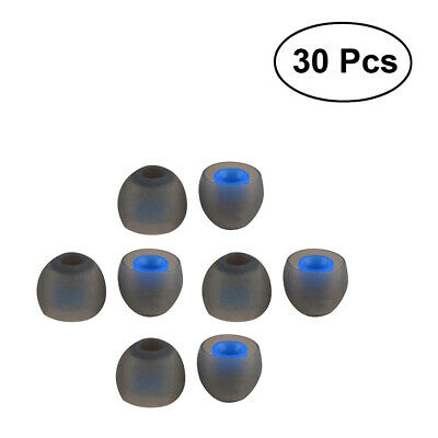 30pcs Silicone Replacement Tips Earbuds In-ear Earphone Headphone Bud Gel Rubber