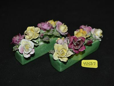 ThriftCHI ~ Crown Staffordshire China Floral Figurines