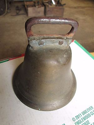 Antique Brass  Hand Riveted Cow Bell