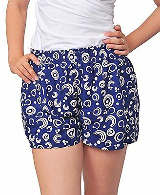 Marycrafts Women Loose Floral Boxing Hawaiian Summer Beach Shorts 14 Spiral