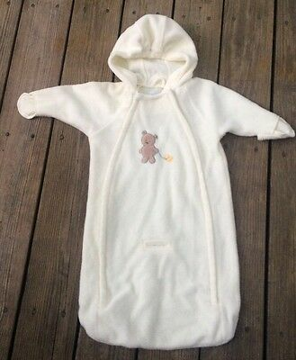 Carter's Baby Bunting Infant Snow Suit Winter Blanket Bear Duck Cream Used
