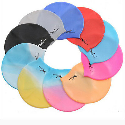 Durable Flexible Sporty Latex Swimming Swim Cap Bathing Hat Unise Color NEW