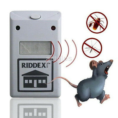 Ultrasonic Electric Anti Mosquito Tool Indoor Mice Pest Bug Control Repeller US
