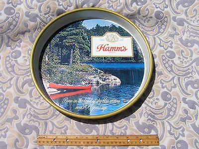Hamm's Beer 1960s tray Scene-O-Rama related lake red canoe cool NR