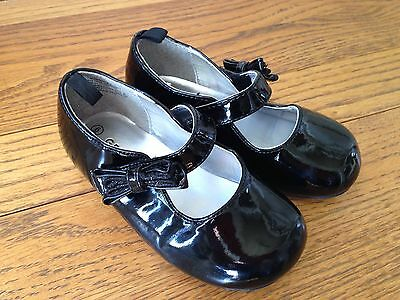 George Girls Toddler Dress Shoes Size 6 Black EUC