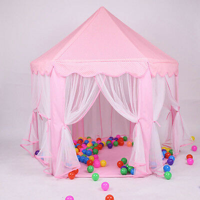 Hexagon Kids Playhouse Girls Princess Castle Large  Indoor Play Tent Fairy House