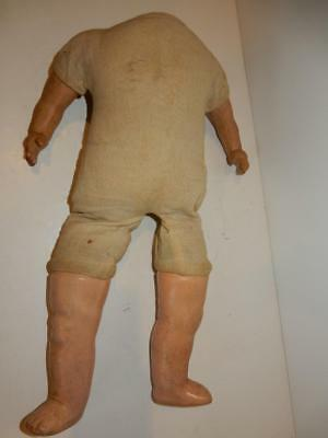 """Antique Vintage Composition Doll Body Very Nice One 16"""""""