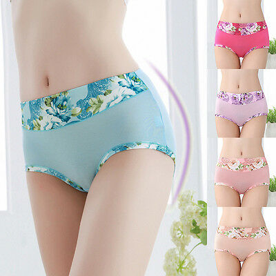 Women's Panties Floral Printed Cozy Modal Briefs Knickers Lingerie Underwear New