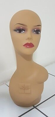 "18"" inches Beauty Elements Mannequin Display Upper Female Head, Brand New."