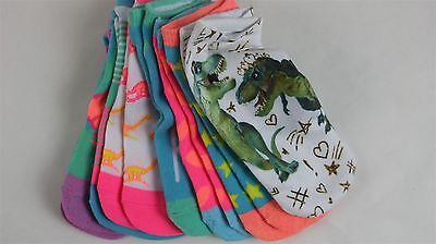 LOT OF 7 CIRCO Girls Cotton No Show Socks Assorted Colors Medium/Large