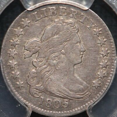 Fantastic 1805 Draped Bust Dime,4 Berries,pcgs Vf30 W/ Cac Sticker,3-Day Return