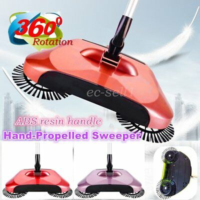 360 Rotation Hand Propelled Sweeper broom Household Cleaning Without DV