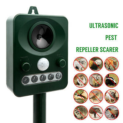 Pestbye Ultrasonic Dog Fox Pest Battery Repeller Scarer Deterrent Repellent