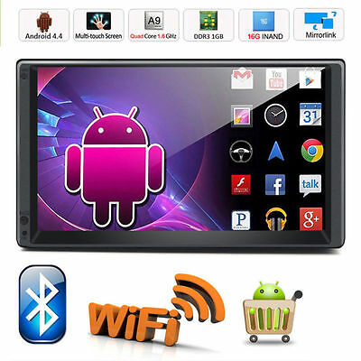 Android 5.1 Autoradio 2 DIN GPS Nav Car Monitor Quad-core WiFi-3G BT In Dash RDS