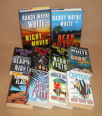10 DOC FORD Randy Wayne White lot Captiva, Tampa Burn, Dead of Night, Silence,