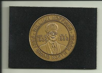 1986 Florida State Moose Association Coin WILLIAM HOFFMAN Past Grand North Moose