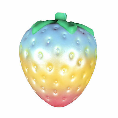 Rainbow Simulation Strawberry Super Jumbo Scented Slow Rising Fun Toy Squishy